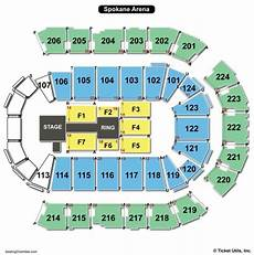 Spokane Arena Seating Chart Seating Charts Amp Tickets