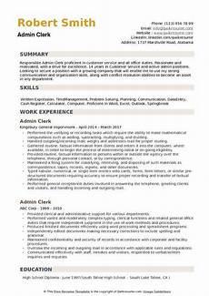 Administrative Clerk Duties Admin Clerk Resume Samples Qwikresume