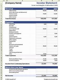 Income Statement Example Excel Income Statement Template For Excel