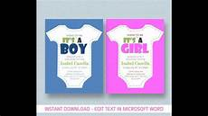 Baby Shower Invites Templates Word Baby Shower Invitation Template For Ms Word Youtube