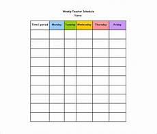 Teacher Schedule 11 Teacher Schedule Templates Docs Excel Pdf Free