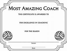 Volleyball Certificate Templates Download Volleyball Award Certificate Template For Free
