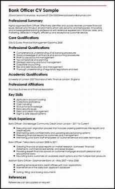 Resume Format For Banking Jobs Bank Officer Cv Sample Myperfectcv Good Resume