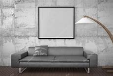 Large Sofa 3d Image mock up poster big sofa concrete wall background 3d