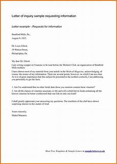 Inquiry Letter Template Business Inquiry Letter Sample For Requesting Information