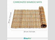 Bamboo Sushi Making Kit with 2 Rolling Mats, Chopsticks