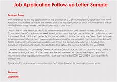 Follow Up Online Application How To Format A Follow Up Letter For Your Job Application