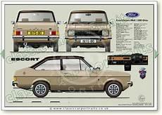 Ford Escort Mk2 1300 1975 80 Classic Car Portrait