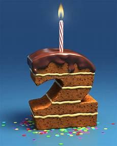 candela a forma di torta torta di compleanno a forma di di numero due con la