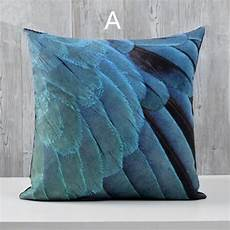 Throws For Sofa 3d Image by 3d Bird Feathers Throw Pillow For Home Decoration American