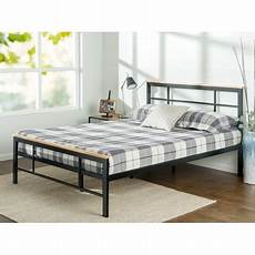 zinus marcia metal and wood platform bed sizes