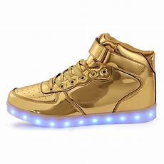 Kids Gold Light Up Shoes Led Shoes Kids High Top Gold Remote