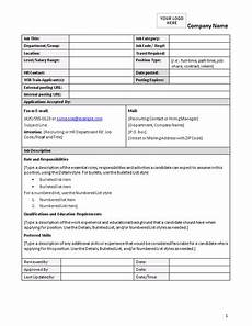 Form Description Job Description Form