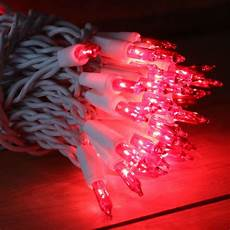 Red Christmas Lights With White Wire 100 Red Christmas Lights On White Wire 2 5 Inches Between