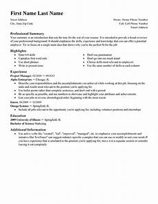 Template For First Resume First Resume Template Livecareer