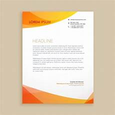 Elegant Letterhead Elegant Orange Letterhead Vector Free Download