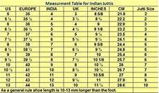 Ladies Footwear Size Chart Designer Indian Punjabi Jutti Ladies Shoes