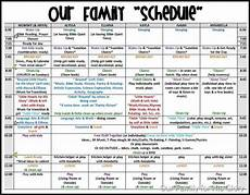 Family Schedule Organizer A Day In The Life Of Our Family Family Schedule Kids