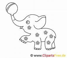 ausmalbild zum drucken elefant im zirkus