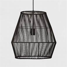 Black Rattan Ceiling Light Outdoor Tropical Room