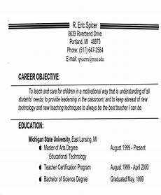 Objective For Job Free 7 Examples Of Career Objective Templates In Ms Word