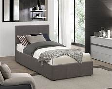 fabric ottoman storage bed frame single small