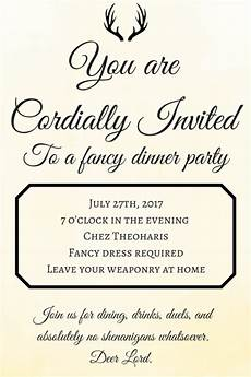 You Have Been Cordially Invited Template Parties The Geeky Hostess