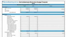Renovation Budget Template Free Renovation Budget Template Serviceseeking Blog