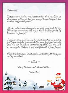 Merry Christmas Letter Sample Kids Letters To Santa Enjoy Christmas With Santa Claus