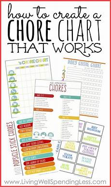 Where To Buy Chore Charts How To Create A Chore Chart That Works Living Well