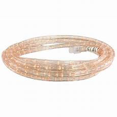 75 Ft Led Rope Light Commercial Electric 6 Ft Incandescent Clear Rope Light