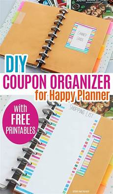 Free Easy Printable Coupons Make A Diy Coupon Organizer For Happy Planner With Free