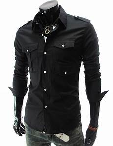 mens black dress shirts sleeve mens sleeve black clearance slim fit button front
