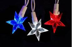 Red White Blue String Lights Star String Lights Red White And Blue Electric Indoor