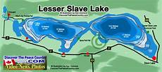 Lesser Lake Alberta Map Of Lake Shows Depth Of
