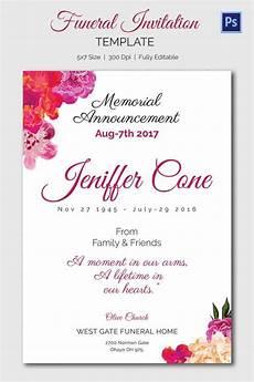 Funeral Invitation Sample 15 Funeral Invitation Templates Free Sample Example
