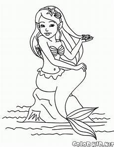 malvorlagen meerjungfrau sitzt auf einem felsen