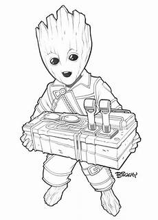 baby groot badge lines by billmckay on deviantart