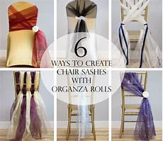 wedding chair sashes how to make tutorial 6 chair sashes created with organza rolls diy