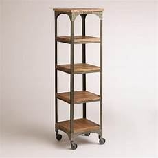 etagere metal our four shelf tower gives your space a rustic industrial