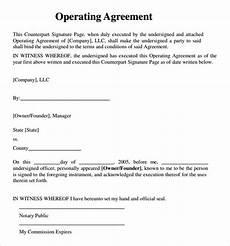 Example Llc Operating Agreement Free 10 Sample Llc Operating Agreement Templates In