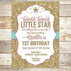 Birthday Invi Twinkle Twinkle Little Star Birthday Invitation 1st