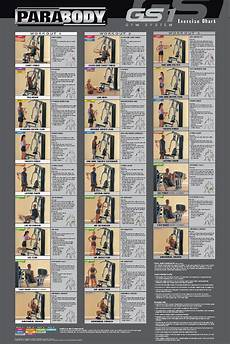 Parabody Home Gym Workout Chart Parabody 425 Home Gym Exercises Homemade Ftempo