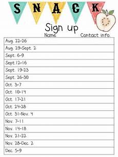 Printable Snack Sign Up Sheet Free Printable Spreadsheet For Snack Sign Ups Email This