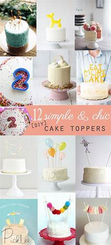 12 simple chic diy cake toppers diy s home
