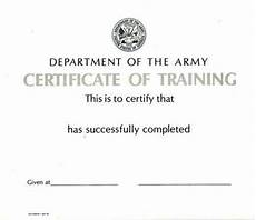 Army Certificates Of Training Army Certificate Ebay