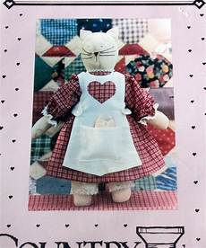country threads primitive cat soft sculpture doll