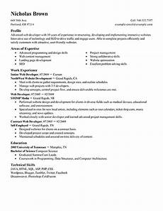 Wordpress Developer Resume Best It Web Developer Resume Example Livecareer