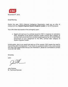 Rescind Letter Sample Gps Rescind Offer Letter