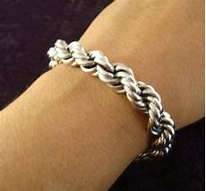 Rope Bracelet Designs Roped Design Chain Bracelet Mexican Silver Store Taxco 925
